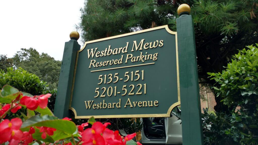 Sandblasted Sign Gold Leaf Westbard Mews