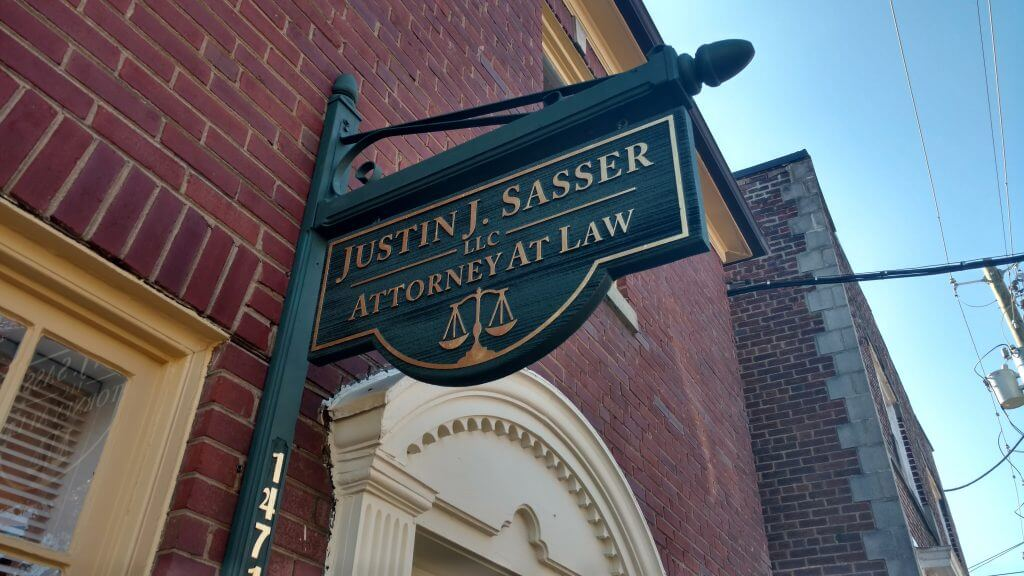 Sandblasted HDU Sign - Justin J. Sasser