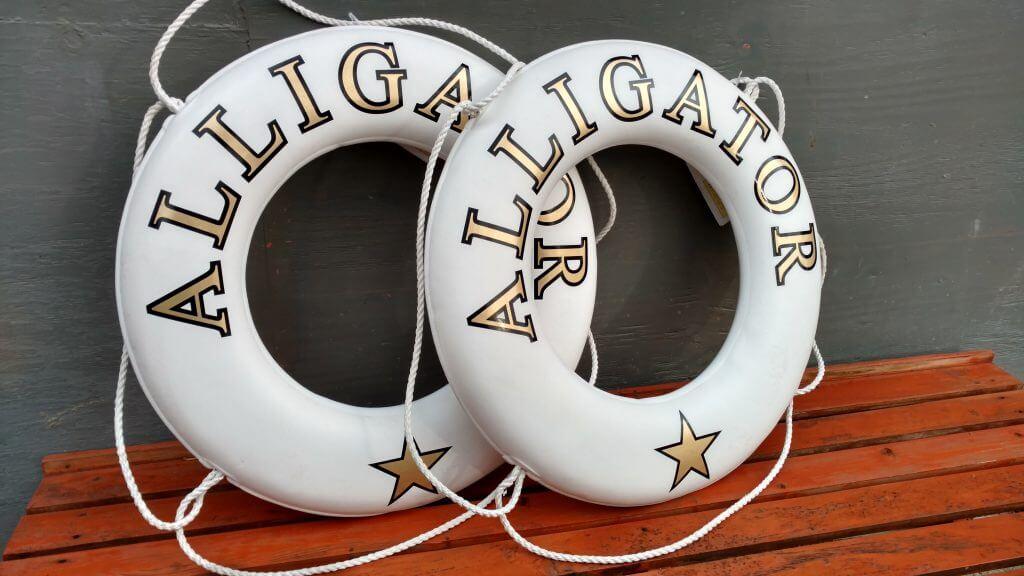 Custom life rings for Alligator