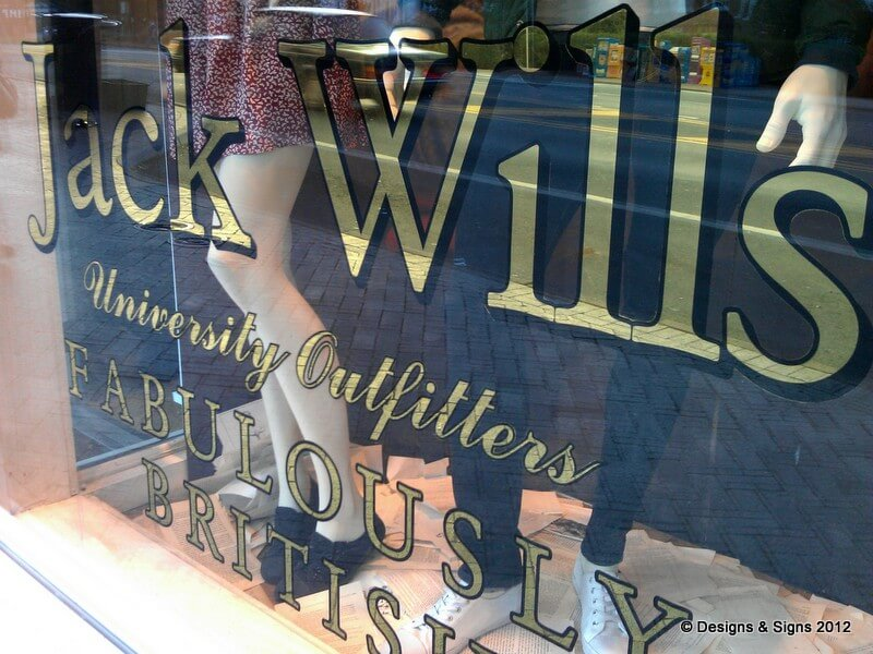Glass Gilding at Jack Wills