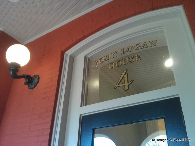 Glass Gilding – John Logan House