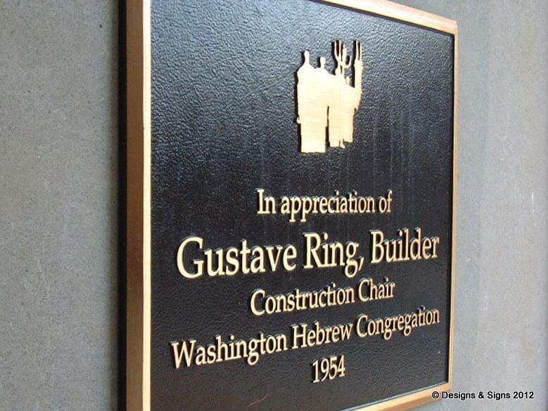 building dedication plaque
