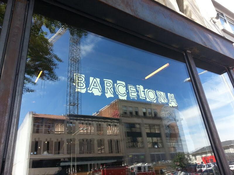 gold leaf restaurant window lettering