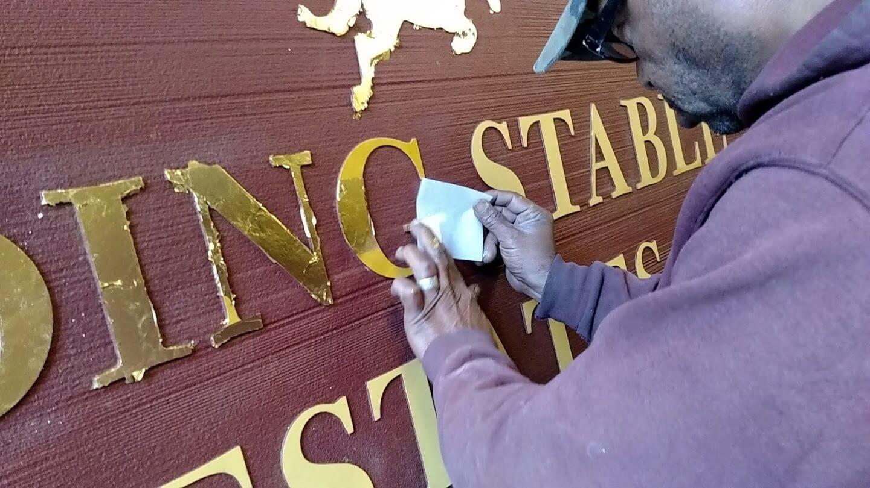 Sandblasted Sign – Riding Stable Estates