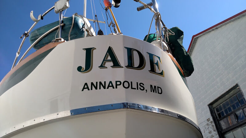 Custom Boat Lettering – Jade