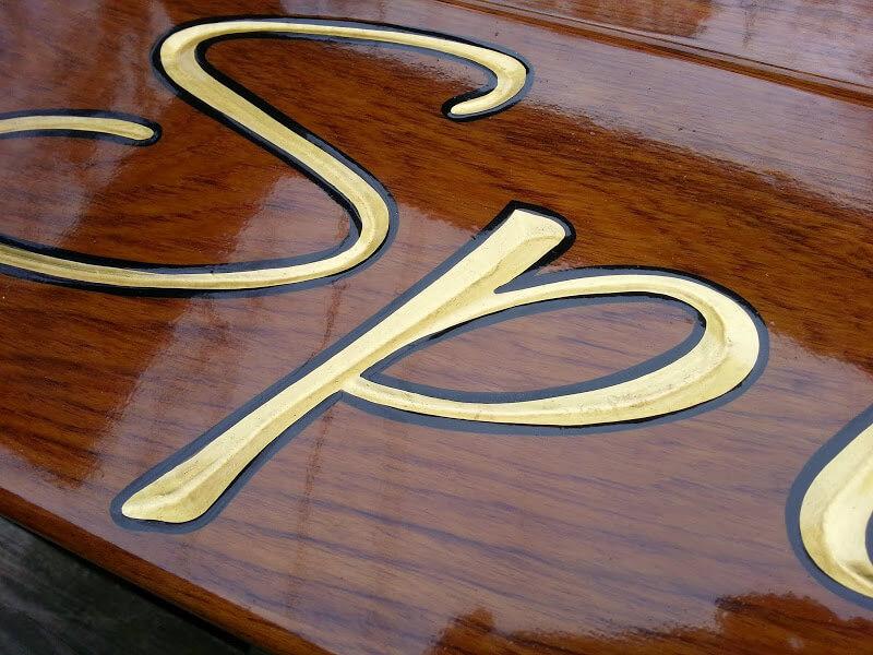 Hand Carved Quarterboards for Spirit