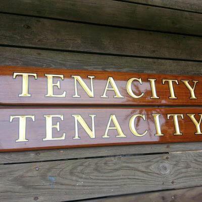 Teak Quarterboards for Tenacity