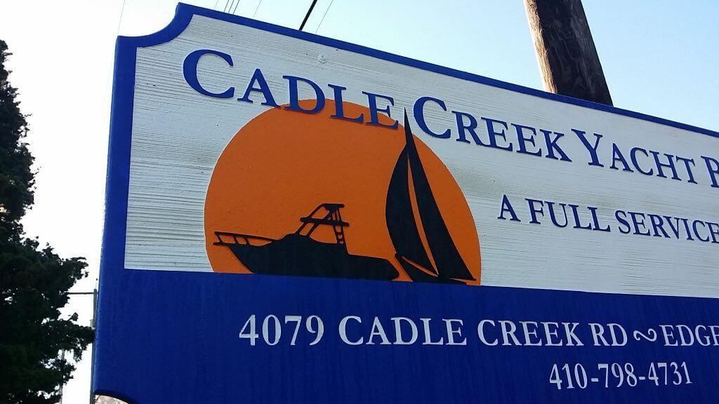 Sandblasted Sign - HDU - Cadle Creek