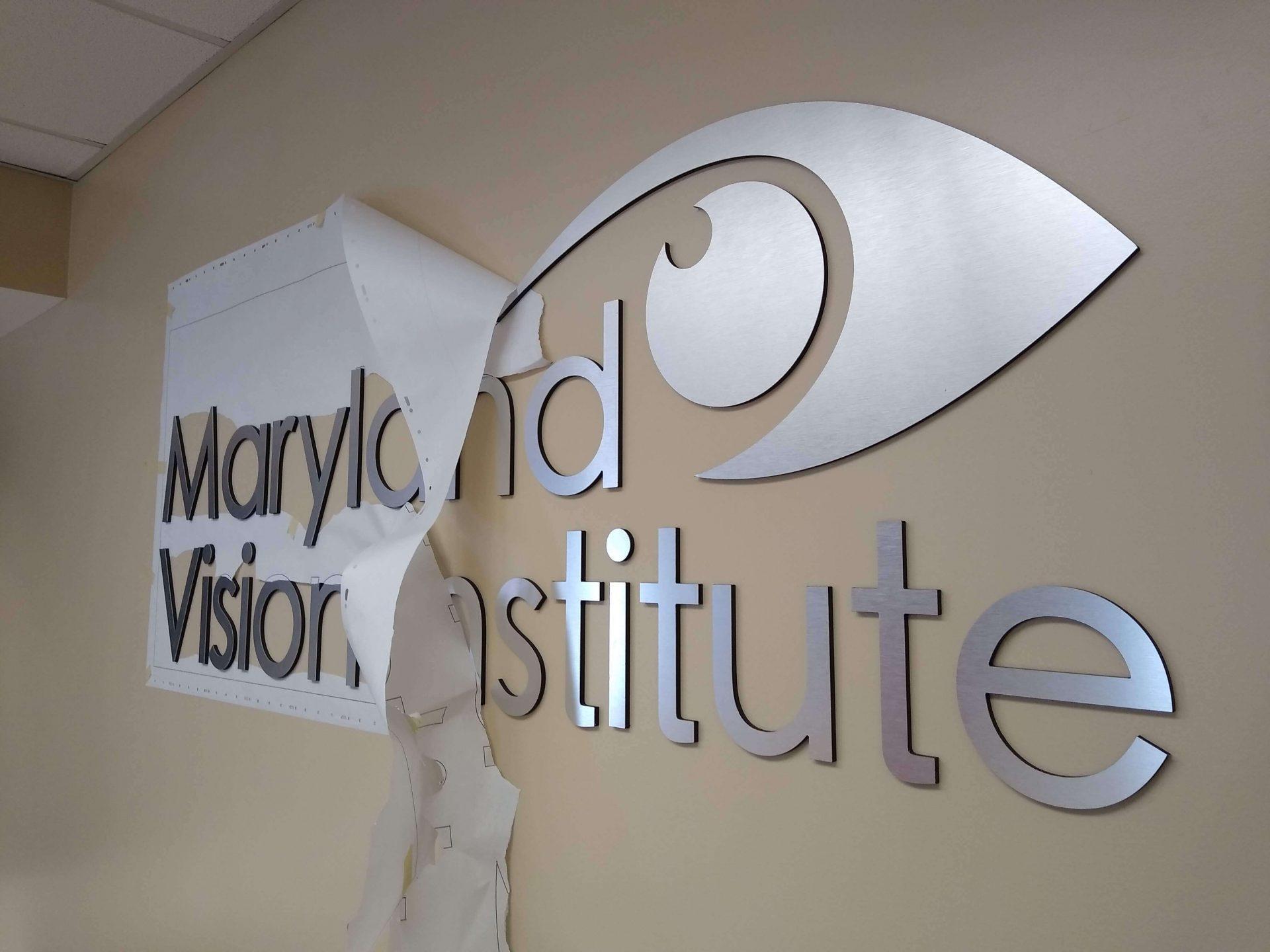 Brushed Metal Logo for Maryland Vision Institute