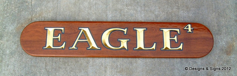 Carved Yacht Name Boards