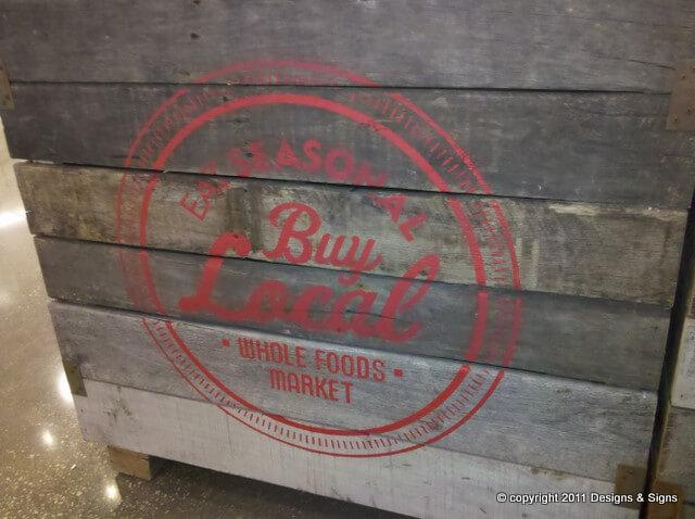 faux antique sign