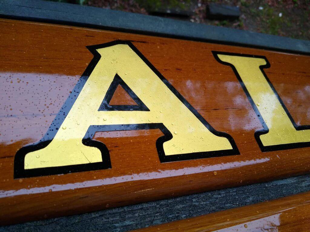 Quarterboards With Gold Leaf Lettering