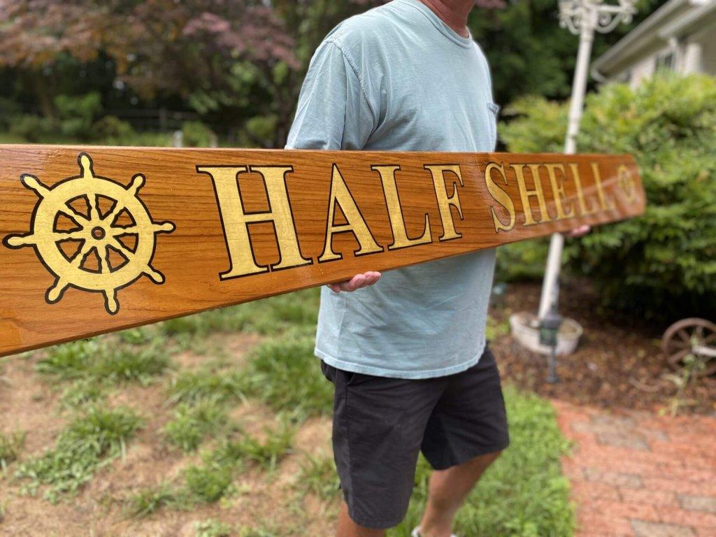 quarterboard boat signs