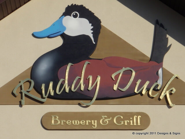 Gold Leaf Signs - Ruddy Duck Brewery