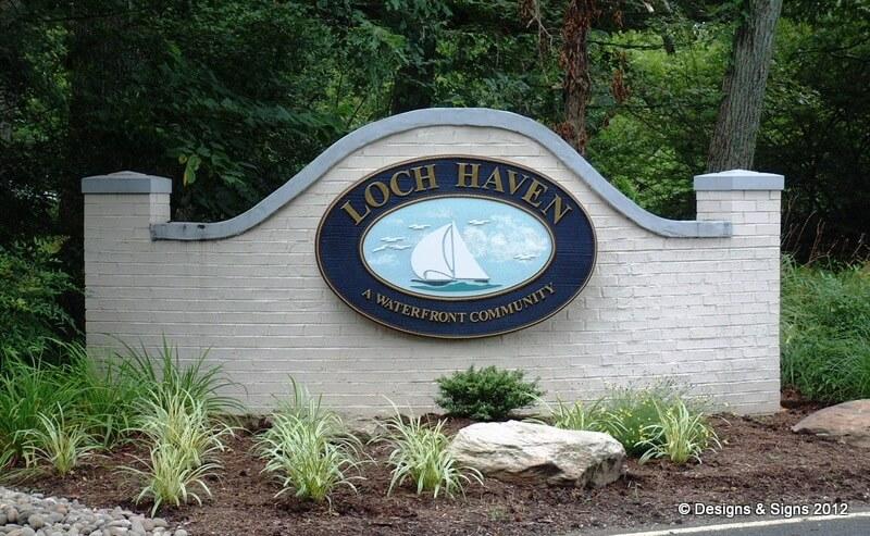 Community Entrance Sign - Loch Haven