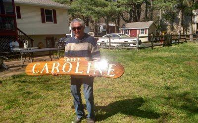 Marine Artist Howard Rogers Sign Carving