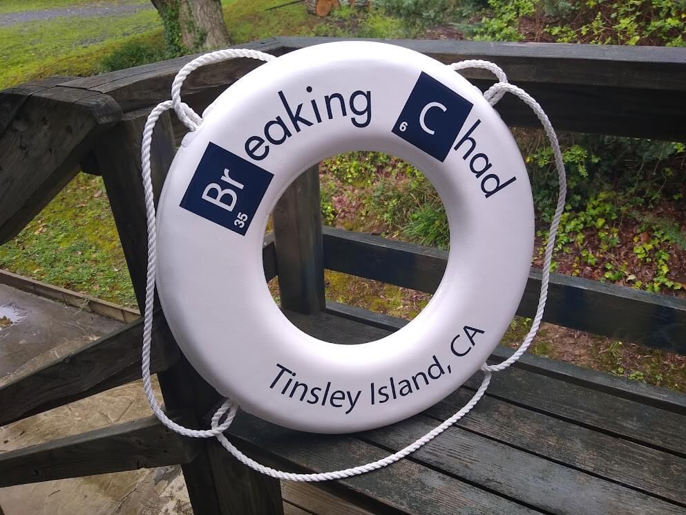 Custom Lifesaver Ring Breaking Chad