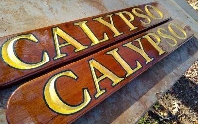 Carved Teak Name Boards