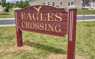 Neighborhood Signs at Eagles Crossing – Mechanicsburg, PA.